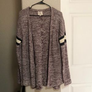 Hippie Rose maroon striped cardigan